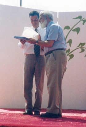 PRIMER GALVANO ENTREGADO - 2002